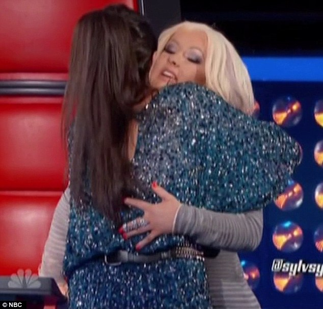 Flattery will get you everywhere: Christina Aguilera put Sylvia Yacoub through to the next round of The Voice after she sung one of her songs