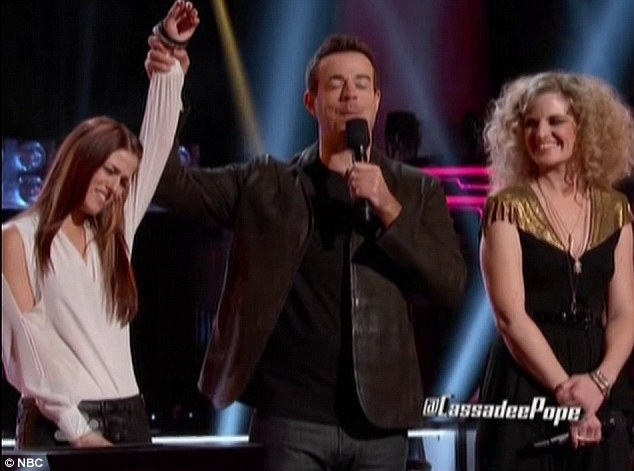 Bobbing off: Suzanna Choffel lost out to Cassadee Pope after giving an awful rendition of Marley's Could You Be Loved