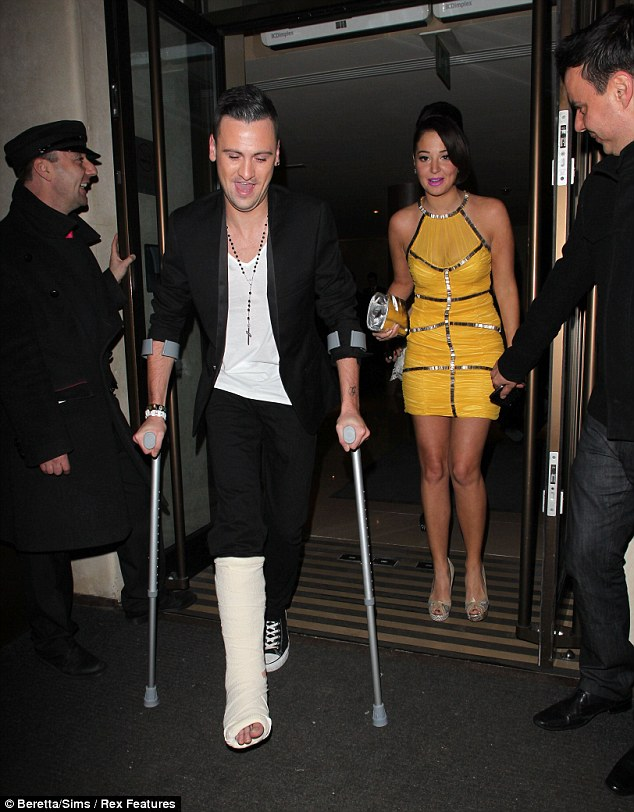 Nice break: Varey managed to fracture his leg during a night out and now has it in plaster