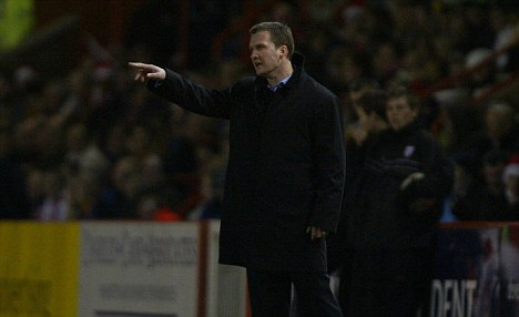 Disappointment: Tottenham's NextGen team manager Alex Inglethorpe