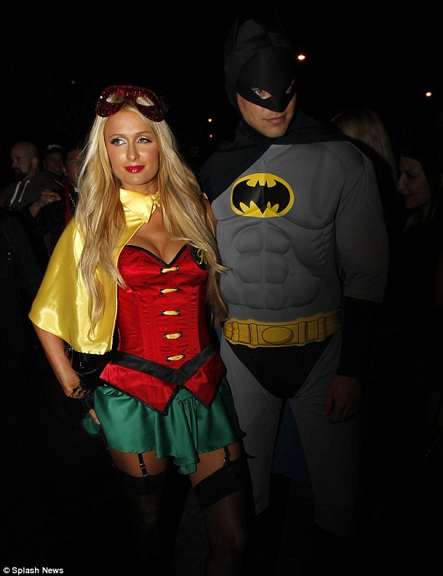 Batman and Robin: Paris Hilton stepped out with boyfriend River Viiperi in tiny Halloween outfit on Wednesday