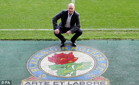 Familiar territory: Berg is unveiled at Ewood Park on Thursday morning