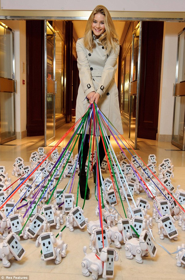 101 TechPets are let loose at Harrods. Hailed as a modern day Tamagotchi, the TechPet is a new app based toy, which allows users to interact and play with their very own robotic dog