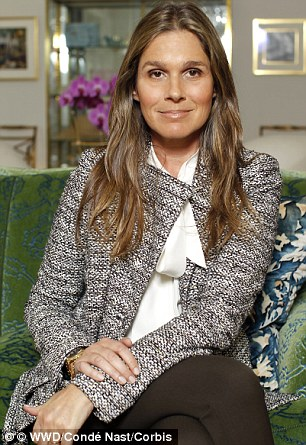 Hurricane shattered: According to Twitter, the estate belonging to Aerin Lauder (pictured) remains standing, but a beachside cottage belonging to her sister Jane has been damaged by Sandy