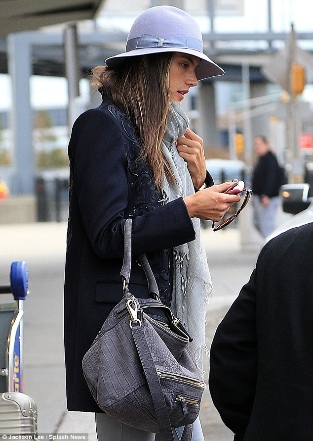Getting a ride: Instead, she was seen getting into a chauffeur driven car where she headed into Manhattan