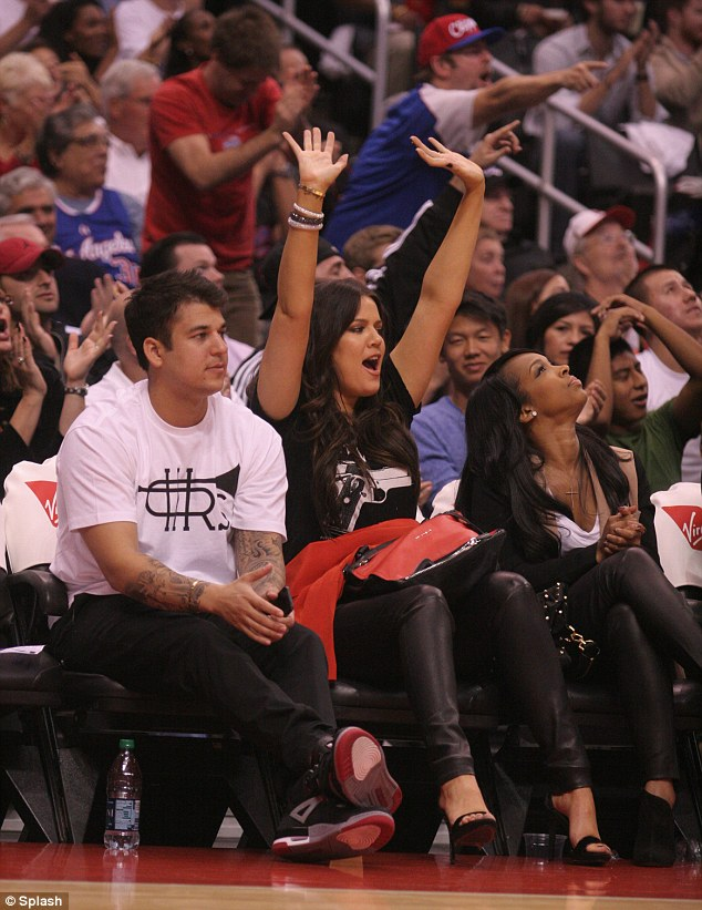 Loyalty: Khloe Kardashian dashed from her X Factor hosting debut to the Staples Center to watch husband Lamar Odom play basketball on Wednesday evening