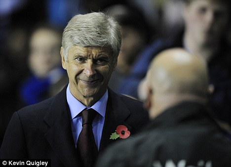 Straight talking: Wenger did not hold back