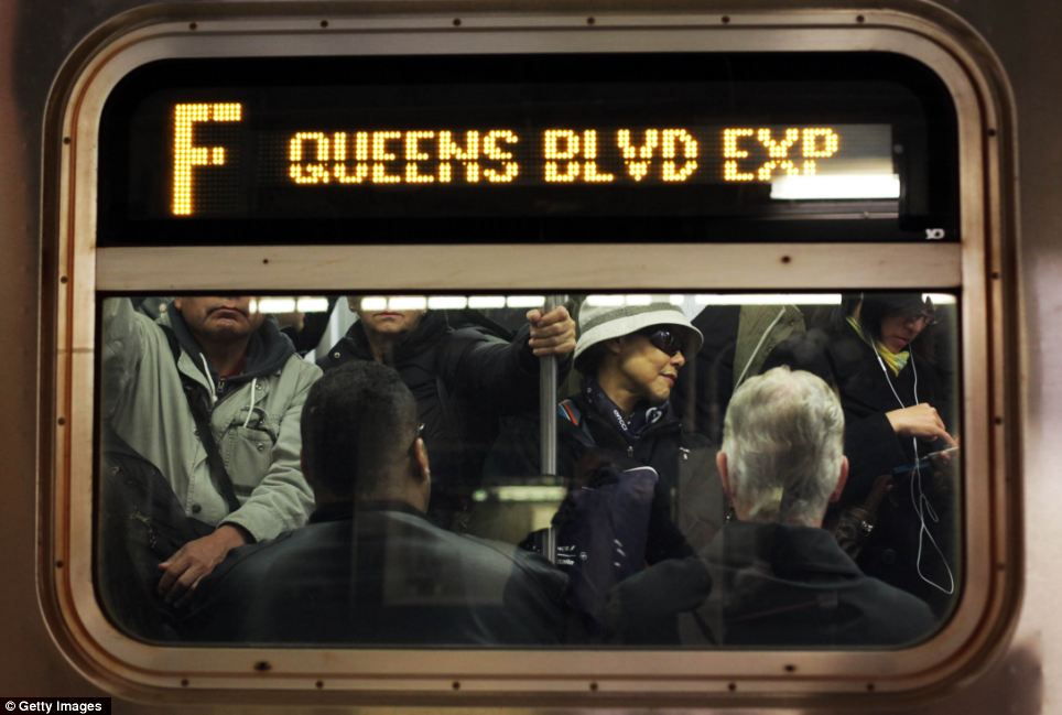 On the buses: getting through New York was even slower than usual today - but at least the wheels were turning