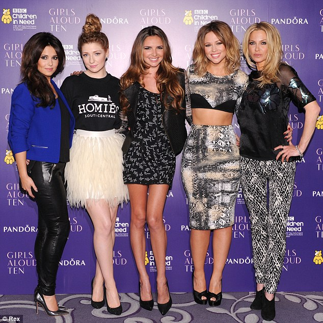 Friends reunited: Girls Aloud, pictured last month, will also be taking to the stage at the Royal Variety Performance