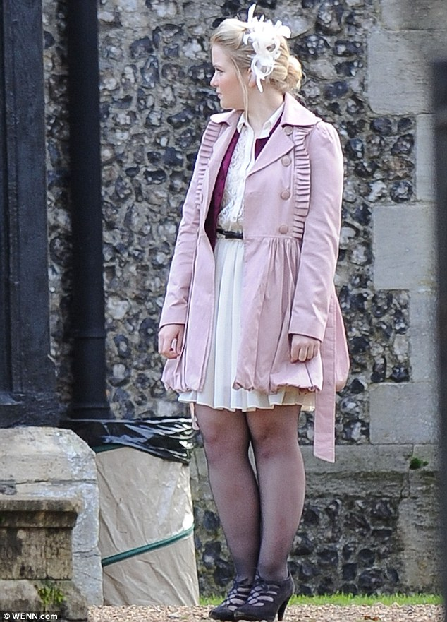 Lady in pink: Abbey Branning's (Lorna Fitzgerald) father Max is set to take part in a happier plot over the seasonal period when he is due to remarry wife Tanya Cross (Jo Joyner)