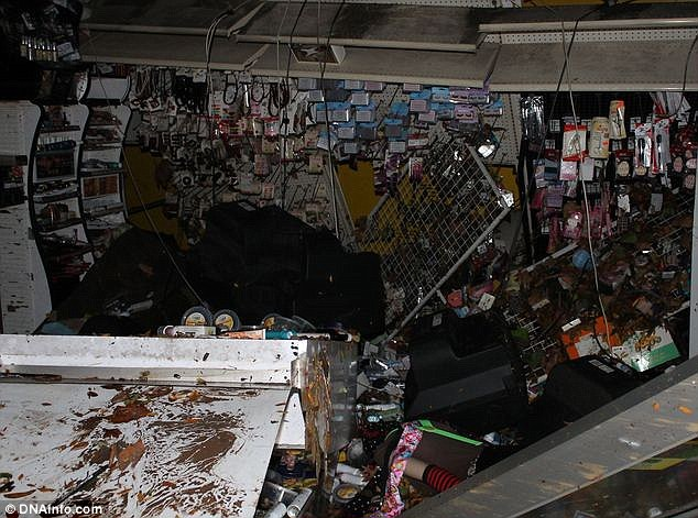 Businesses destroyed: The Beauty One Beauty supply store was completely ruined by the storm and criminals taking advantage of the hurricane