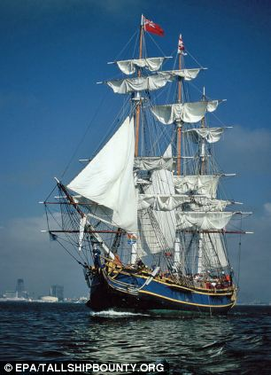 In its prime: The US Coast Guard rescued 14 of 16 crew from the Bounty which is a replica of the original 1789 ship HMS Bounty and has been seen in several films