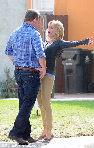 Belly up! Julie and Eric appear to be colliding at one point during their fight scene