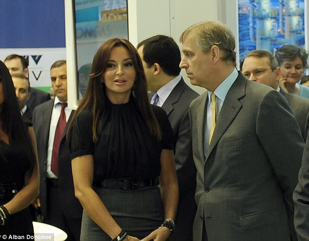 Andrew in Azerbaijan in 2009 with Mr Aliyev's wife Mehriban