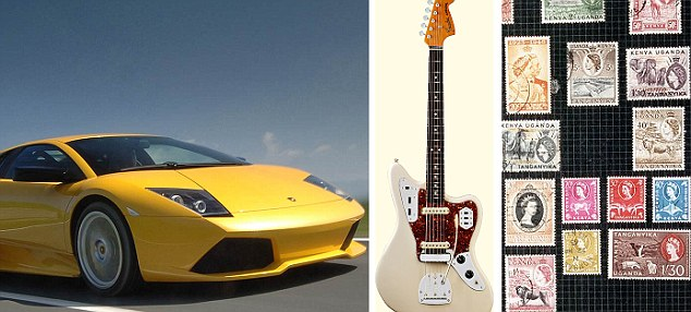 Prized possessions: Lamborghini's, guitars and stamps are used to levy big loans from Borro.
