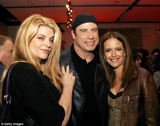 Still close: Kirstie has remained friends with Travolta and his wife Kelly Preston