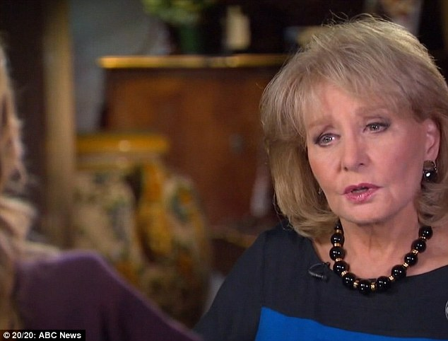 Getting the story: Veteran news woman Barbara Walters sat down with Alley to talk about her life and career