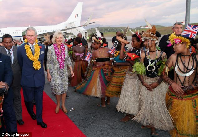 Prince of Wales Duchess of Cornwall Papua New Guinea