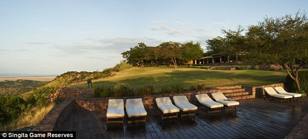 Stunning views! The posh resort also offers activities such as horseback riding, archery, lawn croquet, mountain biking, yoga, and tennis