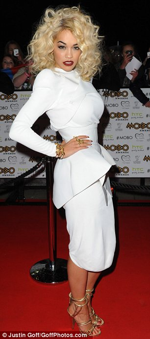 Why stick to just one outfit? Rita Ora donned two different dresses at the MOBO Awards in Liverpool on Saturday night