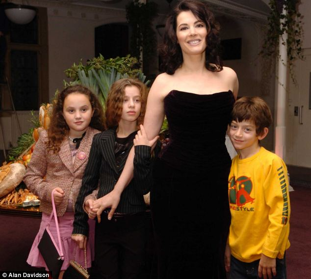 Nigella says that she has a happy family life after finding love again with Charles Saatchi