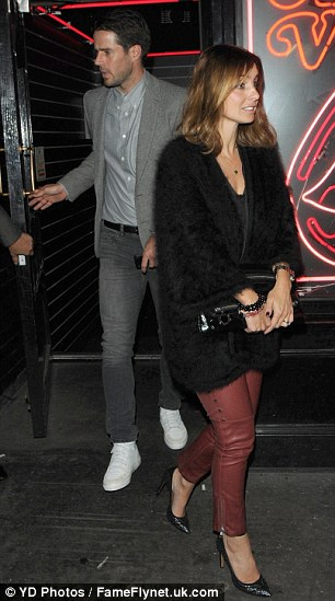 Out on the town: Jade Jones and Emma Bunton bumped into Jamie and Louise Redknapp after enjoying a romantic evening out