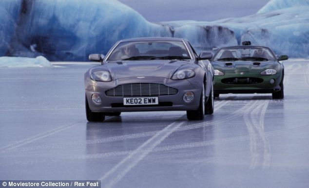James Bond drives the car which can be made invisible in Die Another Day - a vehicle akin to the 'transparent' car that is being developed