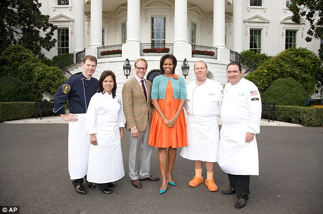 Reality show: In 2010 Mrs Obama became the first president's wife to appear on a reality show taking part in TV series Iron Chef series using ingredients from the White House garden