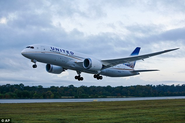 Bugs worked out: The Dreamliner, seen after taking off on Sunday evening, has faced a slew of troubles including with its support structure on the rear fuselage and an engine fire