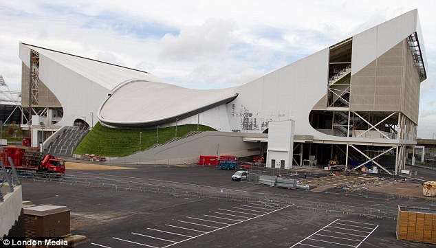 Paint is flaking off the aquatic centre at the Olympic Park just two months after London 2012 finished