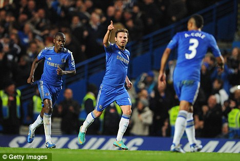 Missing: Mata did not play as Chelsea were held by Swansea