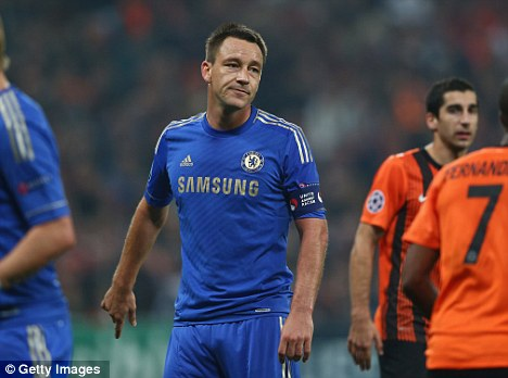 In or out? Captain John Terry could make his return to the Chelsea side on Wednesday