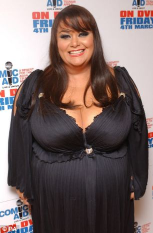 Comedienne Dawn French pictured before her dramatic weight loss in 2007