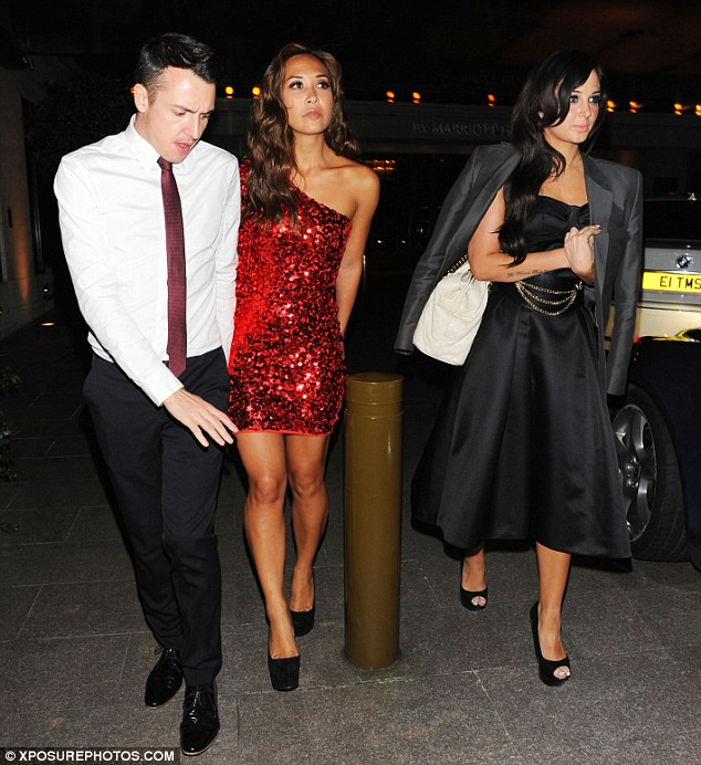 Home time: While Tulisa tagged along, Myleene was given a helping hand back to the car by her friend