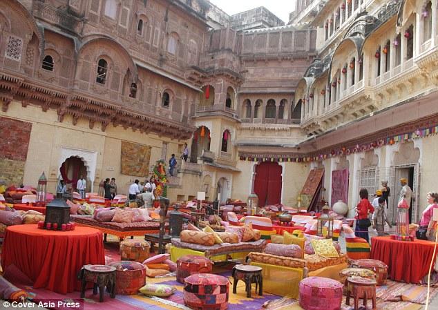 Preparations underway: Naomi Campbell has hired the historic Mehrangarh Fort in Jodhpur for Vladimir Doronin's 50th birthday