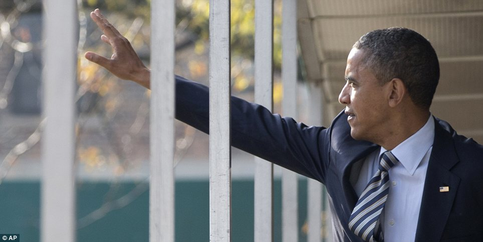 Saying goodbye? Barack Obama could be facing the end of his time as President if the night goes badly for him