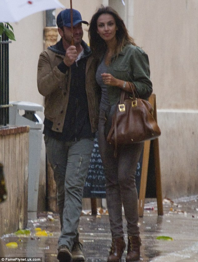 Going public: Gerard was seen with Romanian model girlfriend Madalina Ghenea on the French Riviera last month