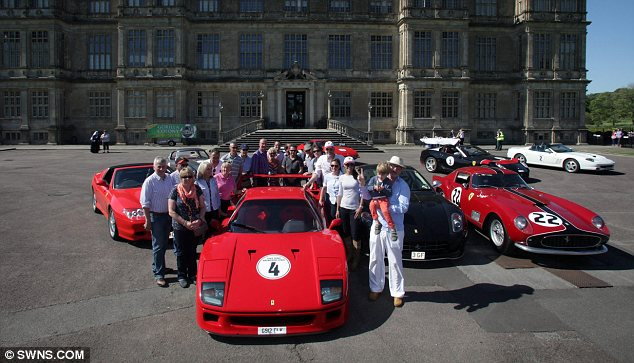 He has a fair few: Chris has a number of classic Ferrari cars, seen at a charity event in Longleat