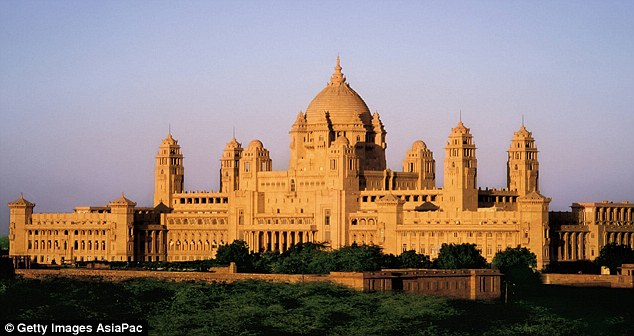 Lap of luxury: Naomi has also hired out Umaid Bhawan Palace for the party guests to stay in