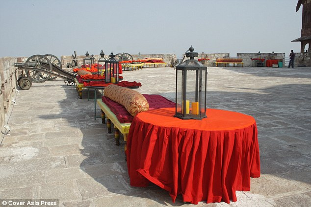 All in the detail: Every seat and table was carefully placed together in the dramatic scenery