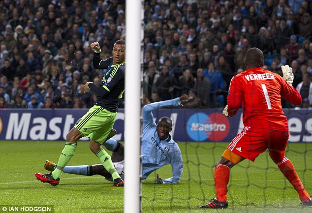 Fighting spirit: But City fought back after Yaya Toure made it 2-1