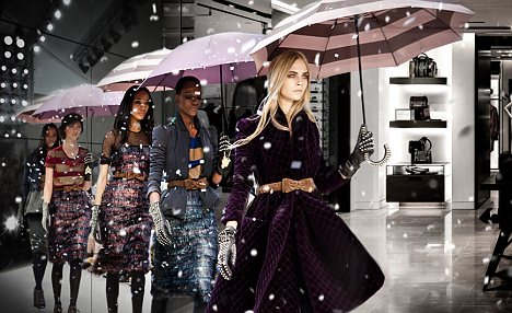 Upbeat: Burberry reported a 6 per cent rise in half-year pre-tax profits after issuing a profit warning in September that triggered a 20% drop in share price