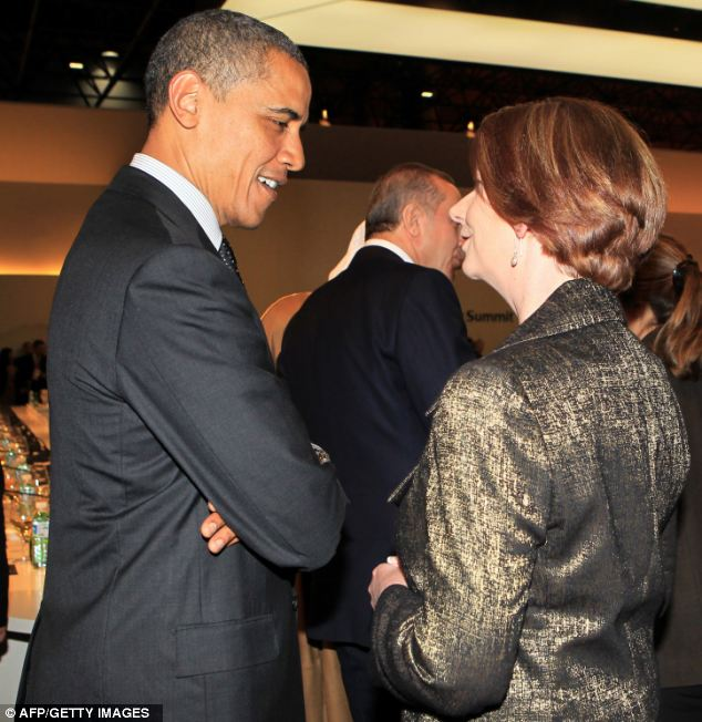 Australia's PM Julia Gillard said the president had a key role in meeting global challenges on issues such as climate change