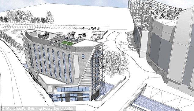 Gary Neville has submitted plans for a 10-storey, 139-bed hotel with a rooftop football pitch in the shadow of Old Trafford