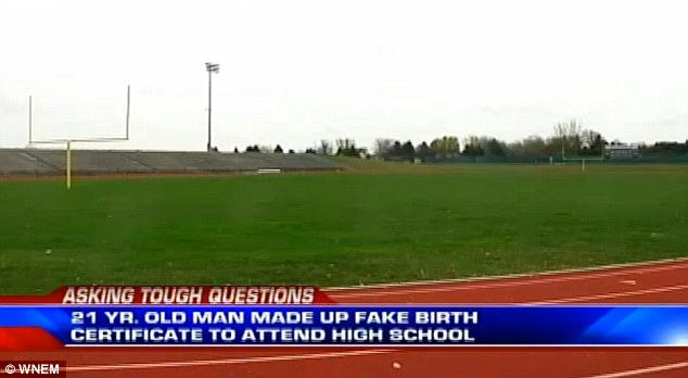 Eager to play football: Nash faked a birth certificate and other documents to claim he was 17 and played four games for the Oilers football team