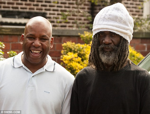 Kenni Wenna (right) with record label boss Cargill Bruce (left) who found his demo record in a garage, 15 years after spotting his talent