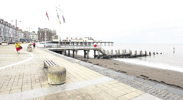 Accident: The rabbi was staying at the scenic seaside town of Aberystwyth in West Wales when tragedy struck