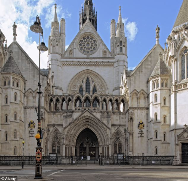 Expensive squabble: Judges at the Court of Appeal at the Royal Courts of Justice, London have yet to pass judgement on the case but lamented the fact that there will be little to no money left to inherit due to the legal costs
