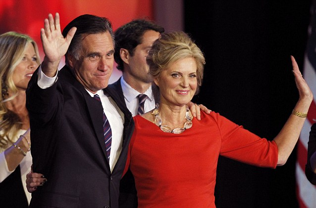 Sensible: Mitt Romney (seen here with his wife Ann during his election night rally in Boston) would have pursued deficit reduction, which is the most viable option to save America's economy