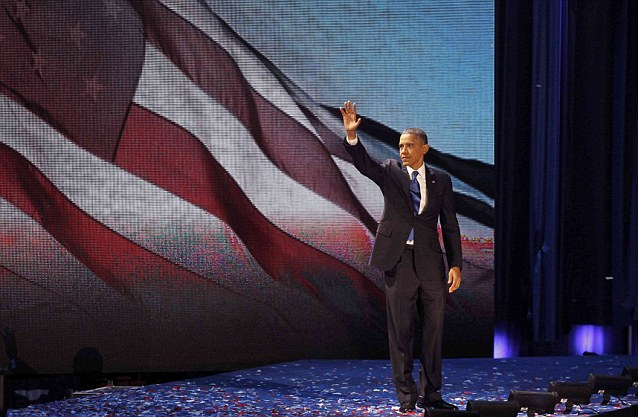 Commander in chief: Obama was elected by the country to serve another four years in the White House